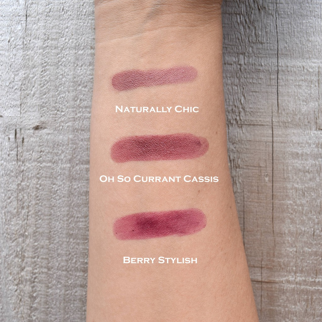 MaryKay lipstick swatches x3 rt words