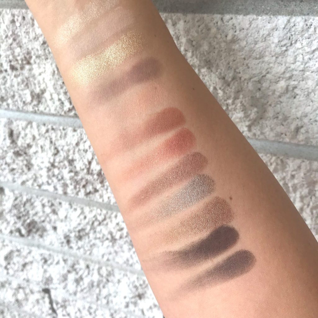 Nars Loaded Eyeshadow Palette swatches natural light