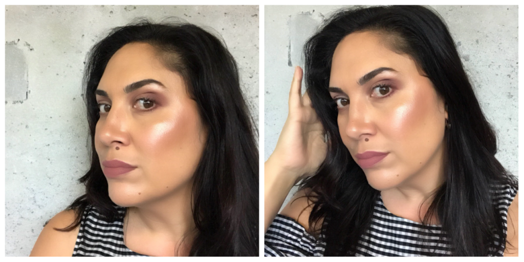 makeup revolution x soph highlighter palette swatches medium skintone