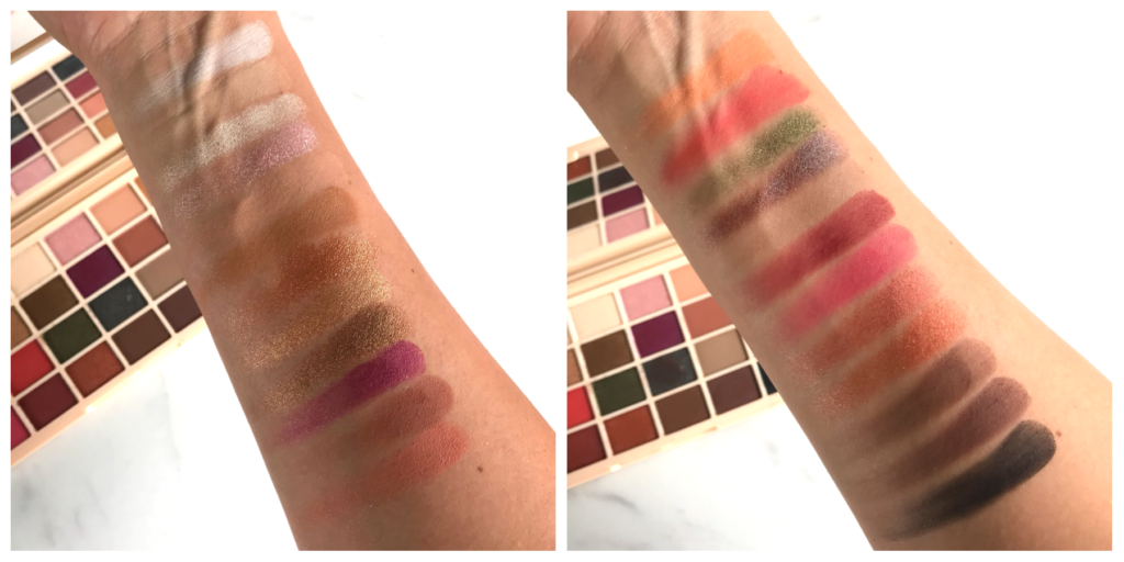 Makeup Revolution Soph x Eyeshadow Palette swatches medium skin tone