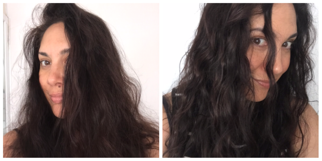 wavy hair before and after